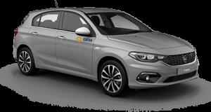 El Fiat Tipo, un turismo de tamaño medio perfecto para alquilar en la temporada de verano para ocio o trabajo.