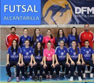 Integrantes del equipo Futsal Alcantarilla, que patrocinamos desde DFM Rent a Car.