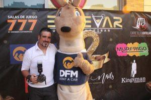 Nuestra mascota, DuFiM, en el 12 aniversario de Bulevar en Murcia.