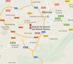 La Región de Murcia cuenta con una estación de gas en la pedanía de la Era Alta.