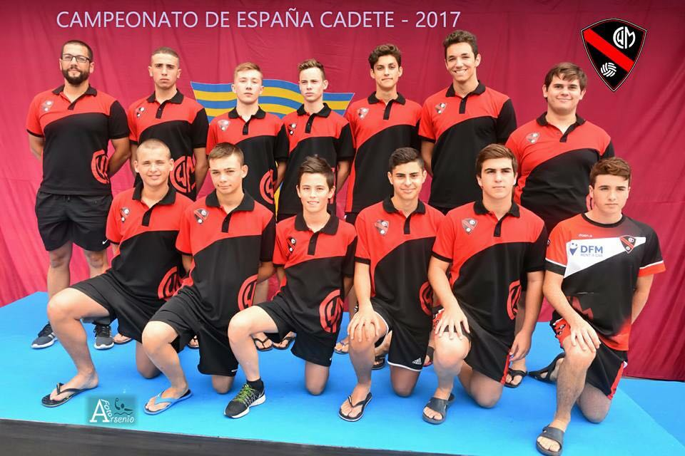 Integrantes del equipo cadete del Club Waterpolo Murcia, que patrocinamos desde DFM Rent a Car