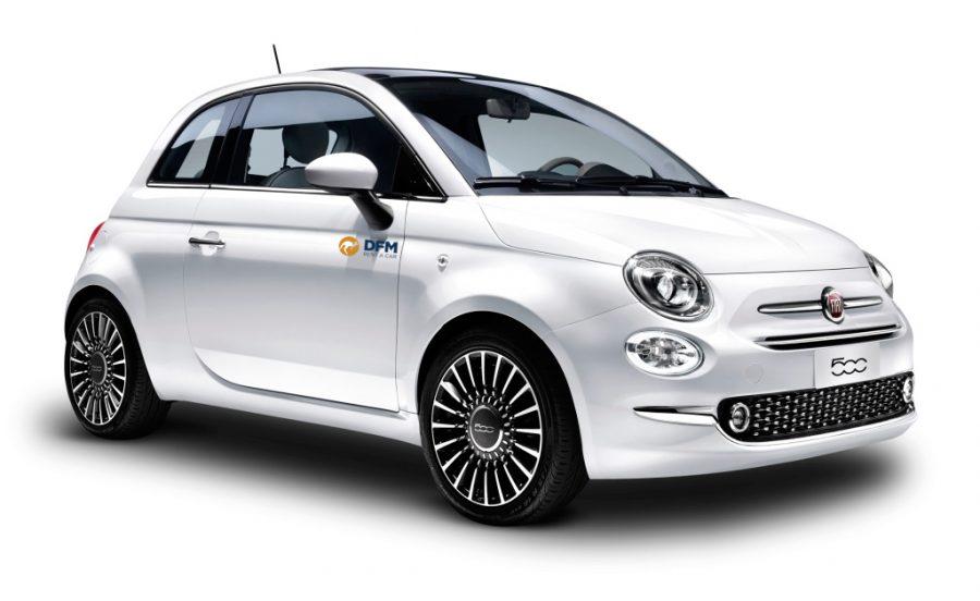 El Fiat 500, uno de los turismos pequeños que puedes alquilar en DFM Rent a Car.