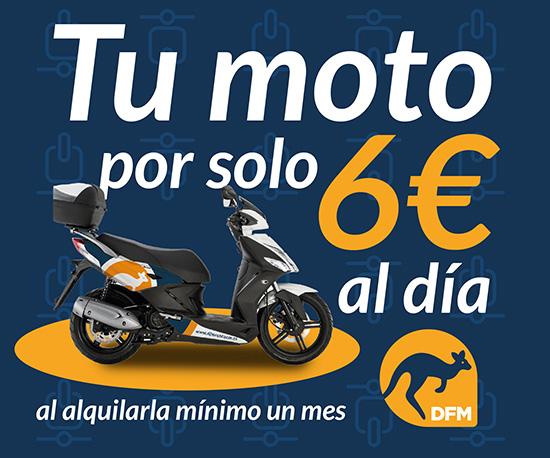 Tu moto por solo 6€ al día