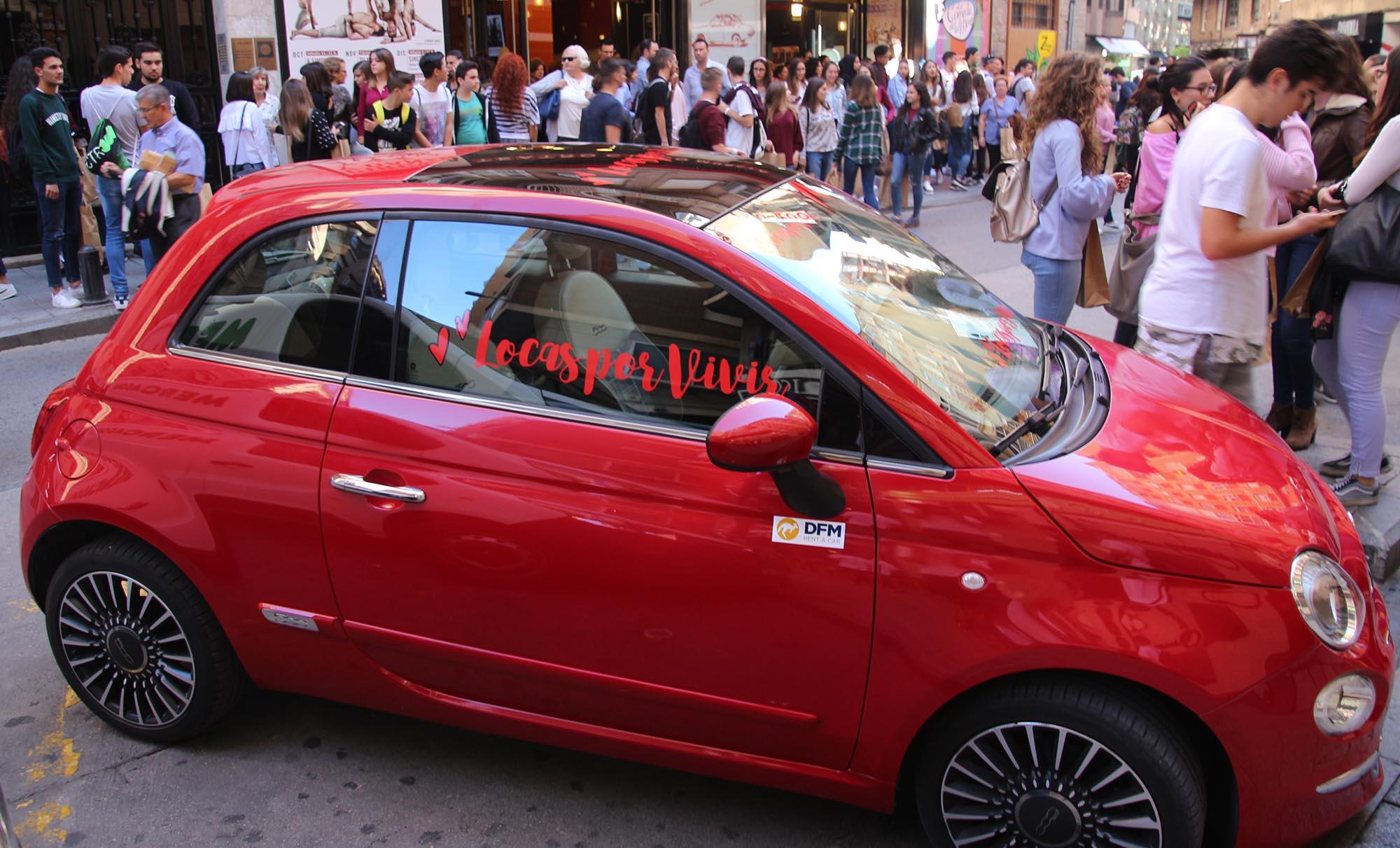 Desde DFM Rent a Car colaboramos con nuestro Fiat 500 rojo con el congreso Locas por Vivir de Murcia