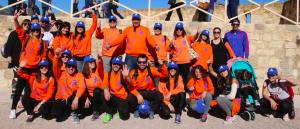Trabajadores de DFM Rent a Car y sus familias ganaron el jubileo en Caravaca de la Cruz.