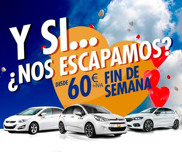 Escápate en un coche de alquiler de DFM Rent a Car por San Valentín. ¡Somos tu mejor opción para tu escapada romántica!