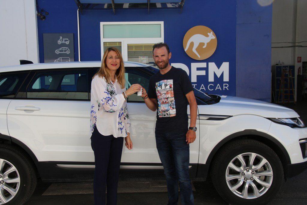 Alejandro Valverde confía en DFM Rent a Car para sus entrenamientos