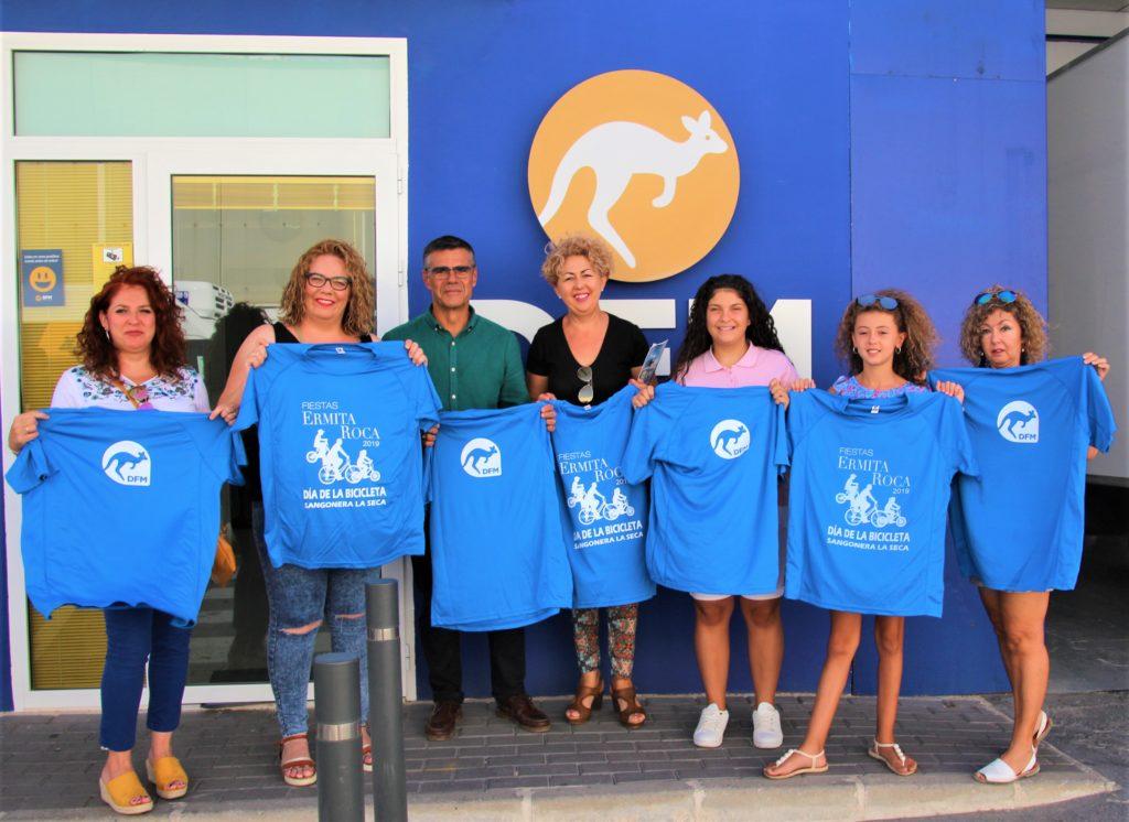 DFM Rent a Car viste el 'Día de la Bicicleta' de las fiestas de Sangonera la Seca
