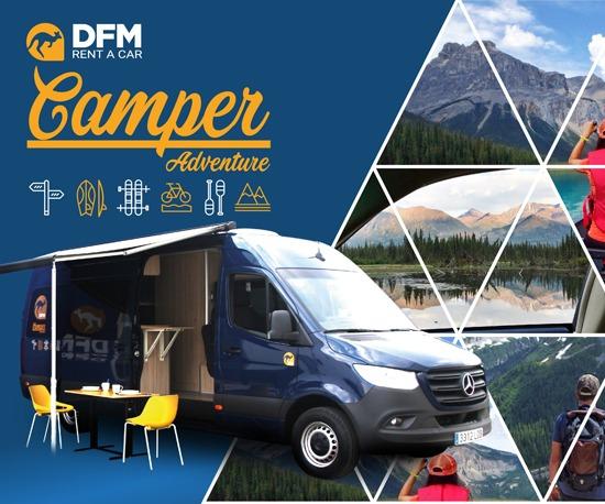 DFM Rent a Car incorpora en sus servicios la furgoneta de vanguardia camperizada