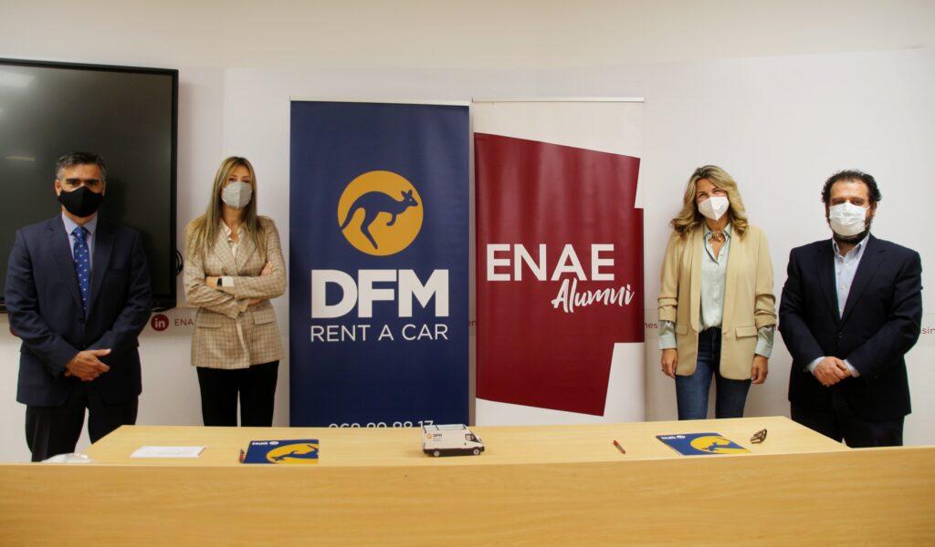 DFM Rent a Car y ENAE Alumni firman un acuerdo de colaboración